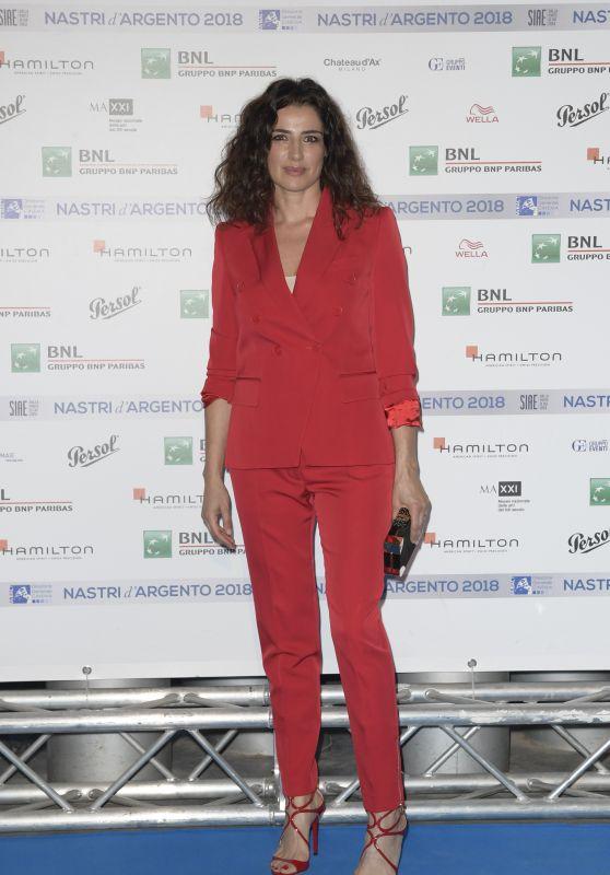 Luisa Ranieri – Nastri D'Argento 2018 Blu Carpet in Rome