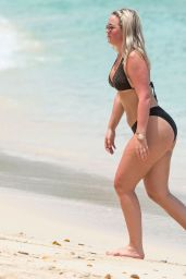 Megan Davison in Bikini on the Beach in Barbados 05/15/2018