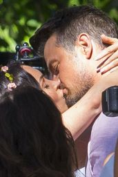 "Megan Fox and Josh Duhamel - Shooting Kissing Scene for ""Think Like a Dog"" in New Orleans 05/06/2018"