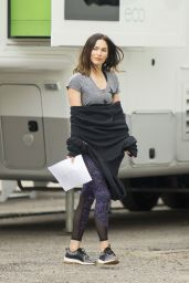 """Megan Fox - """"Think Like A Dog"""" Movie Set in New Orleans 05/06/2018"""