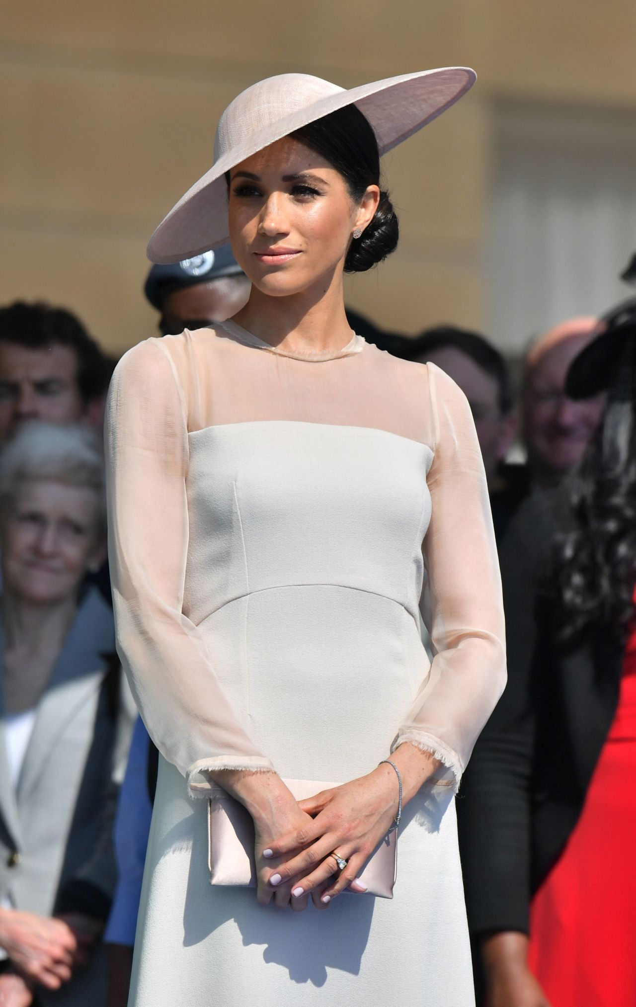 Meghan Duchess Of Sussex At A Garden Party At Buckingham