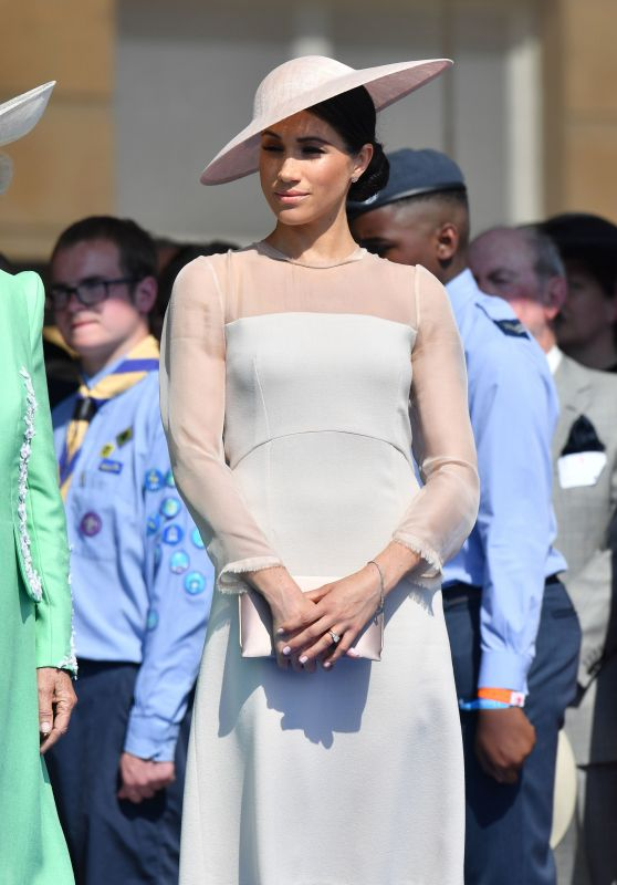Meghan Duchess of Sussex at a Garden Party at Buckingham Palace in London 05/22/2018