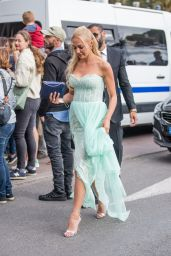 Meryem Uzerli at the Martinez Hotel in Cannes 05/13/2018