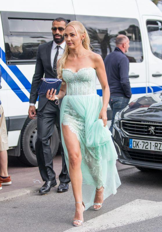 Meryem Uzerli at the Martinez Hotel in Cannes 05/13/2018