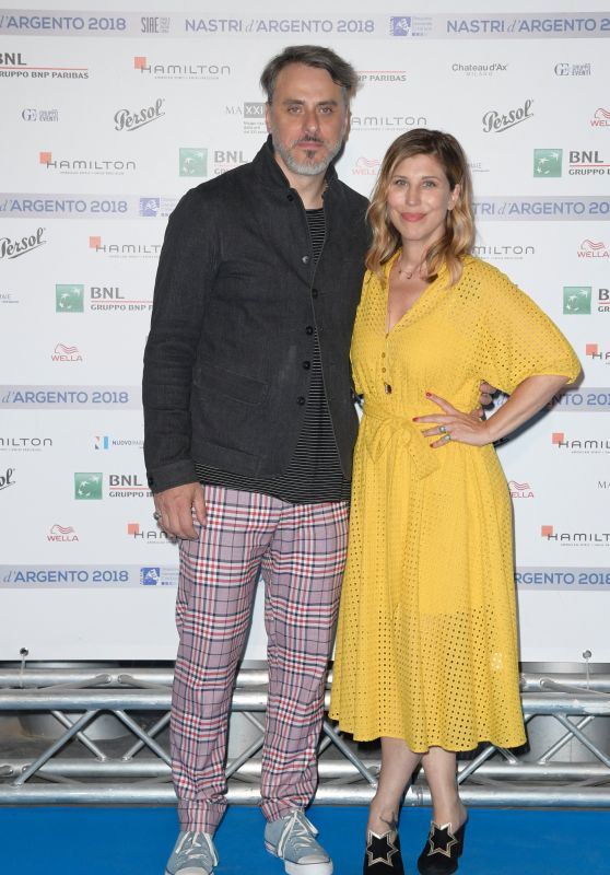 Michela Andreozzi – Nastri D'Argento 2018 Blu Carpet in Rome