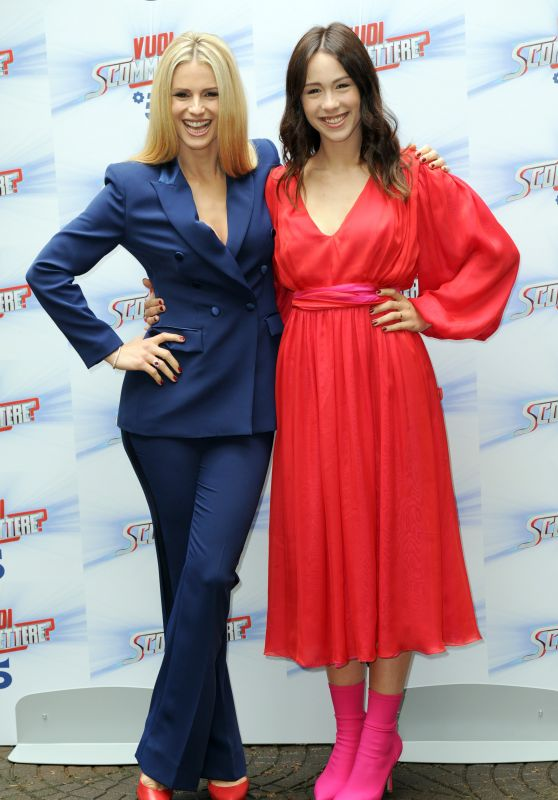 "Michelle Hunziker and Aurora Ramazzotti - ""Do You Want To Bet"" TV Show Photocall in Milan 05/03/2018"