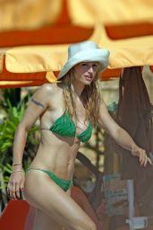 Michelle Hunziker in Bikini - Varigotti Beach, May 2018