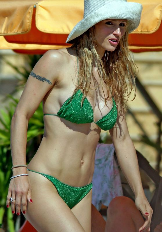 Michelle Hunziker in Bikini - Varigotti Beach, May 2018
