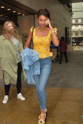 Michelle Keegan - Leaving BBC Radio in London 05/29/2018