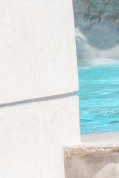 Michelle Rodriguez Candids - Swimming at Eden Roc Hotel in Antibes 05/16/2018