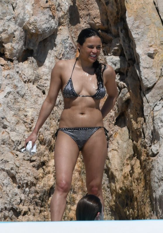 Michelle Rodriguez on Swimming Pool at Hotel Du Cap Eden Roc in Antibes 05/18/2018