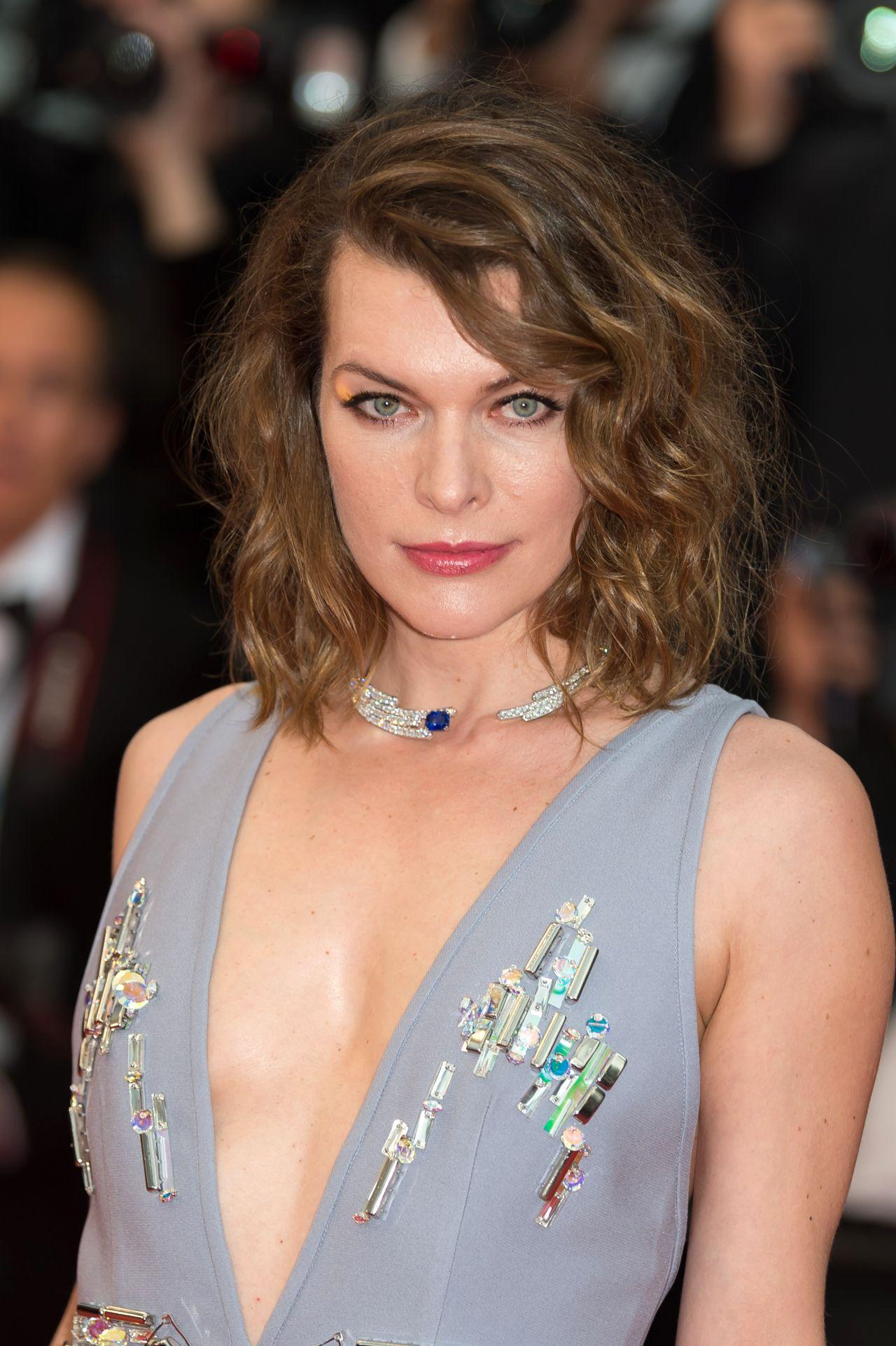 """Milla Jovovich – """"Burning"""" Red Carpet in Cannes Milla Jovovich"""