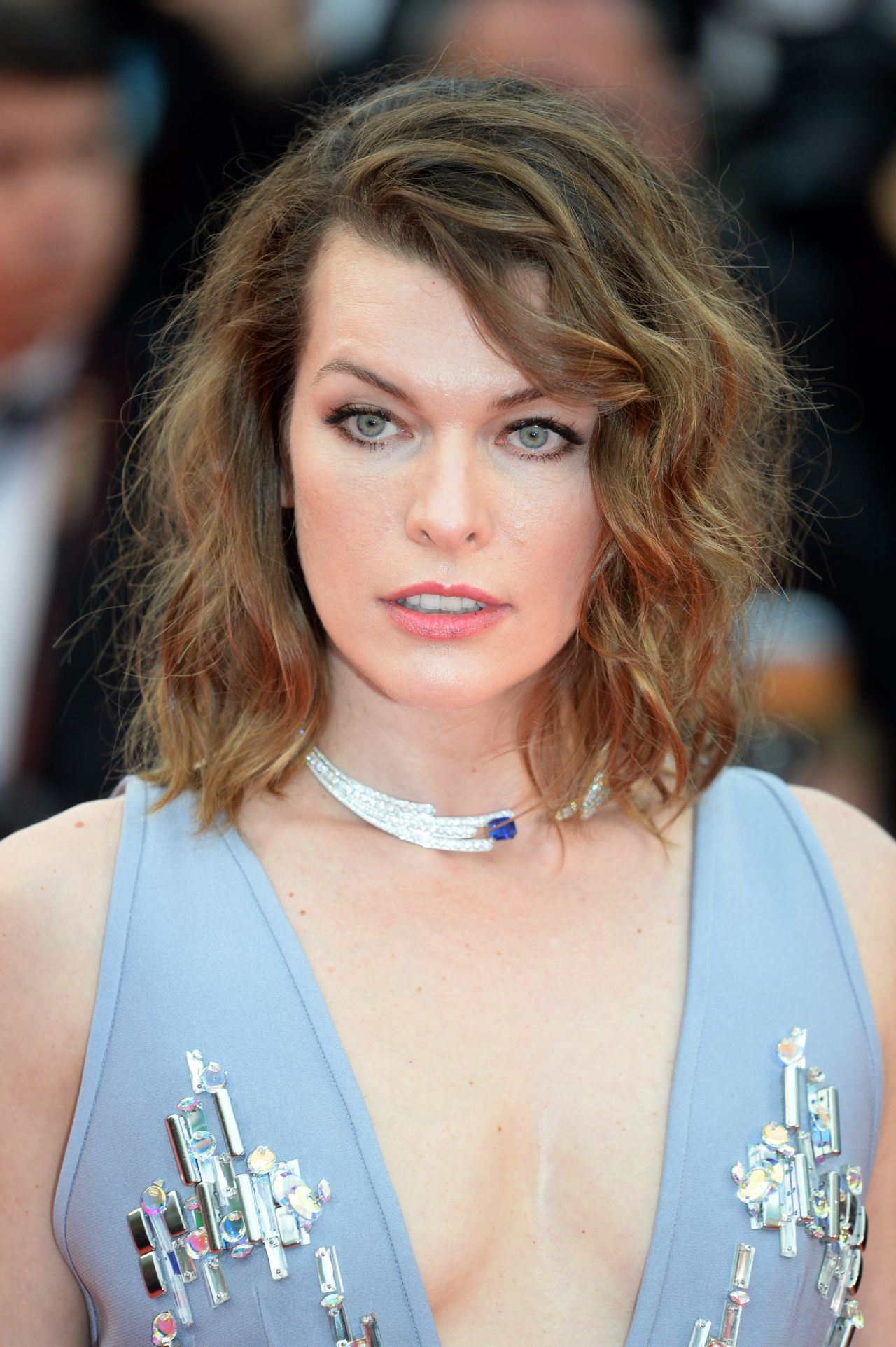 Milla Jovovich Burning Red Carpet In Cannes