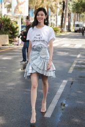 Ming Xi Sighting at the Croisette in Cannes 05/14/2018