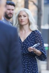 "Minka Kelly on the Set of ""Titans"" in Toronto 05/09/2018"