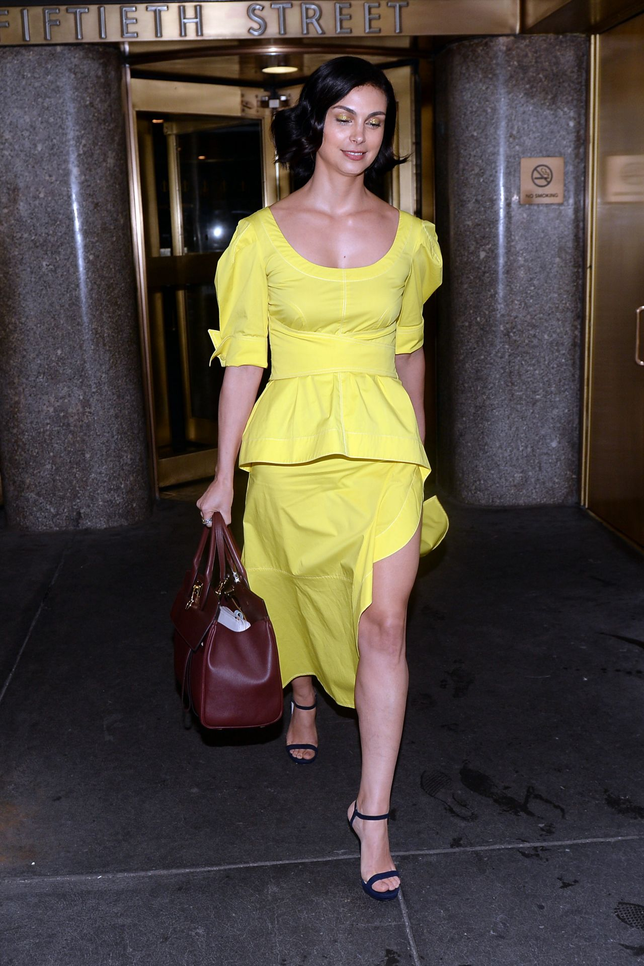 Morena Baccarin Leaving Nbc Studios In New York City 05