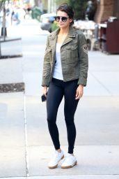 Nina Dobrev in Leggings in New York City 05/10/2018