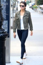Nina Dobrev in Leggings in New York City 05/10/2018