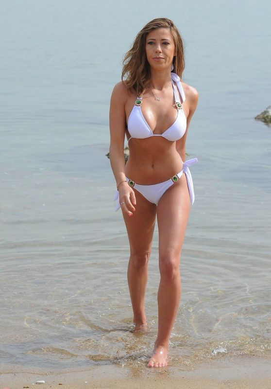 Pascal Craymer in Bikini - Enjoys a Day at the Beach in Tenerife, May 2018