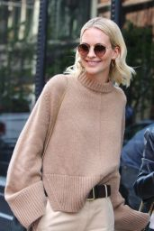 Poppy Delevingne - Wears Muted Earth Tones at BUILD Series in NY  05/03/2018