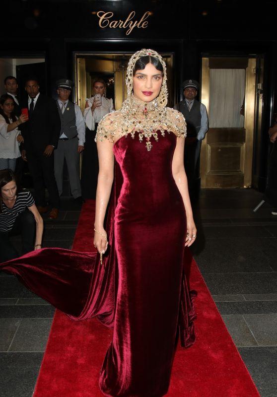 Priyanka Chopra – Leaving the Carlyle Hotel to Attend MET Gala 2018