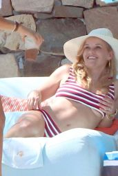 Reese Witherspoon in a Red and White Striped Bikini Cabo San Lucas 05/25/2018