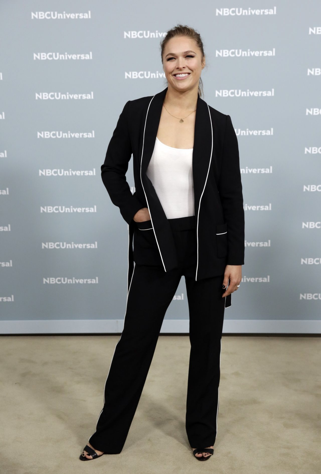 Ronda Rousey 2018 Nbcuniversal Upfront In Nyc