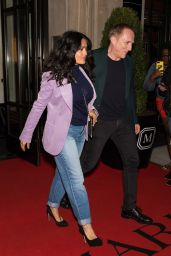 Salma Hayek and Husband Francois-Henri Pinault - Leaving Their Hotel in NYC 05/06/2018