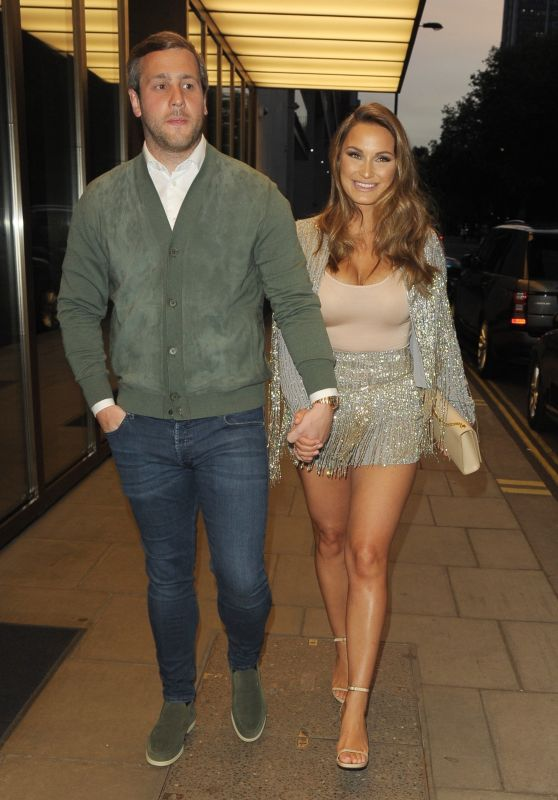 Sam Faiers With Paul Knightley at the Bulgari Hotel in London 05/18/2018
