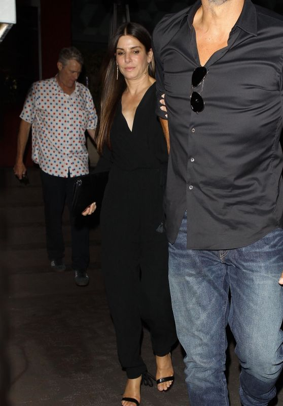 Sandra Bullock and Bryan Randall - Leaving Roku Sushi in West Hollywood 05/18/2018