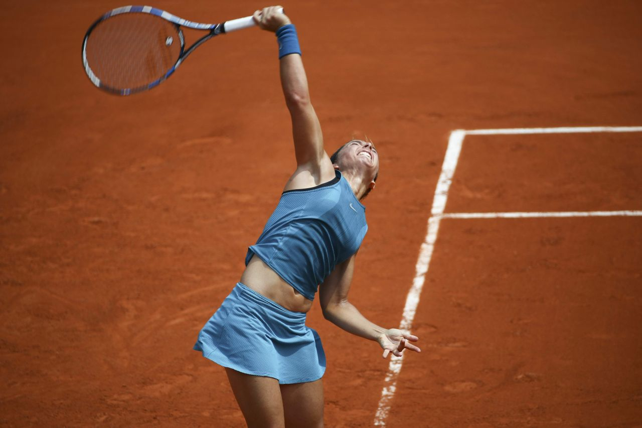 Sara Errani French Open Tennis Tournament 2018 In Paris
