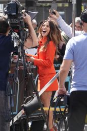 Sarah Shahi Filming EXTRA TV Live in Los Angeles 05/29/2018