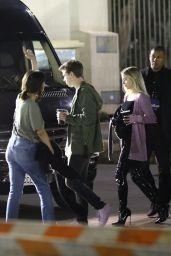 Selena Gomez - Boarding a Limo Bus in Pasadena 05/20/2018