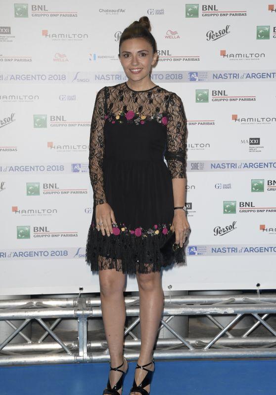 Serena Rossi – Nastri D'Argento 2018 Blu Carpet in Rome