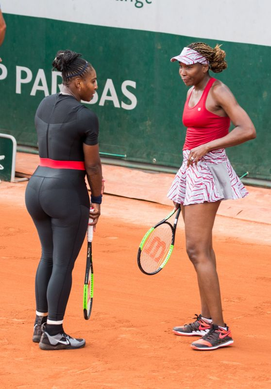 Serena Williams and Venus Williams – French Open Tennis Tournament in Paris 05/30/2018