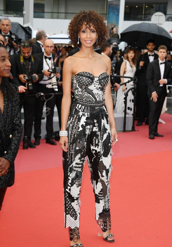 """Sonia Rolland – """"Burning"""" Red Carpet in Cannes"""