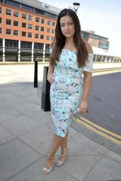 Sophie Austin - Arrives For The Christening Of Jennifer Metcalfes Baby in Liverpool 05/20/2018