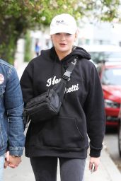 Sophie Turner at Alfred Coffee in West Hollywood 04/30/2018