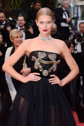 "Toni Garrn - ""Burning"" Red Carpet in Cannes"