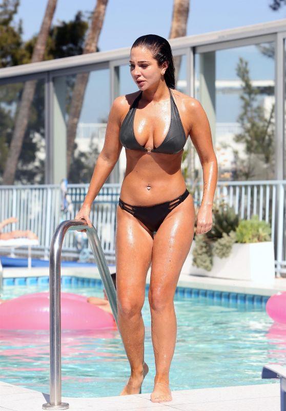Tulisa Contostavlos in Bikini - Poolside in Los Angeles 05/19/2018