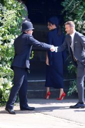 Victora and David Beckham - Arrive for the Royal Wedding at Windsor Castle 05/19/2018