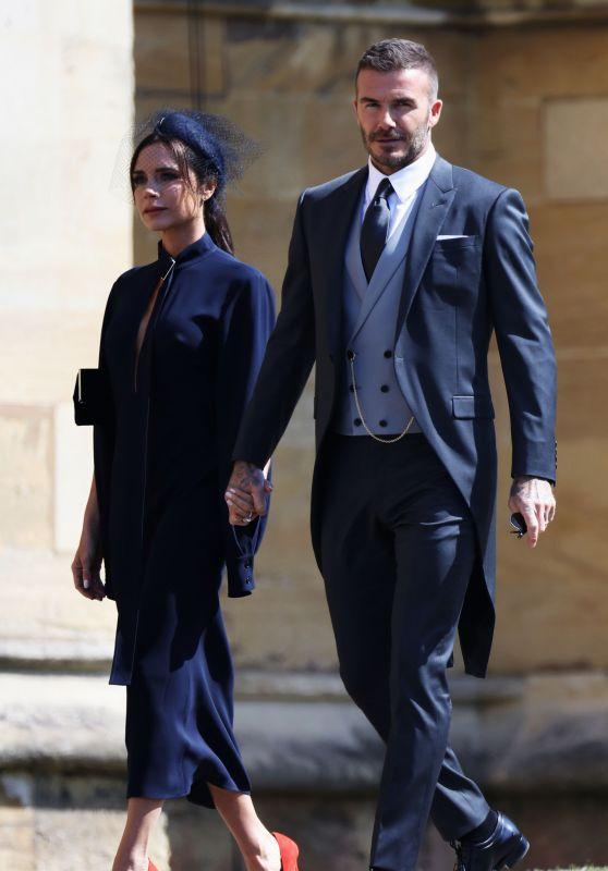 Victora and David Beckham - Arrive for the Royal Wedding at Windsor Castle 05/19/2018