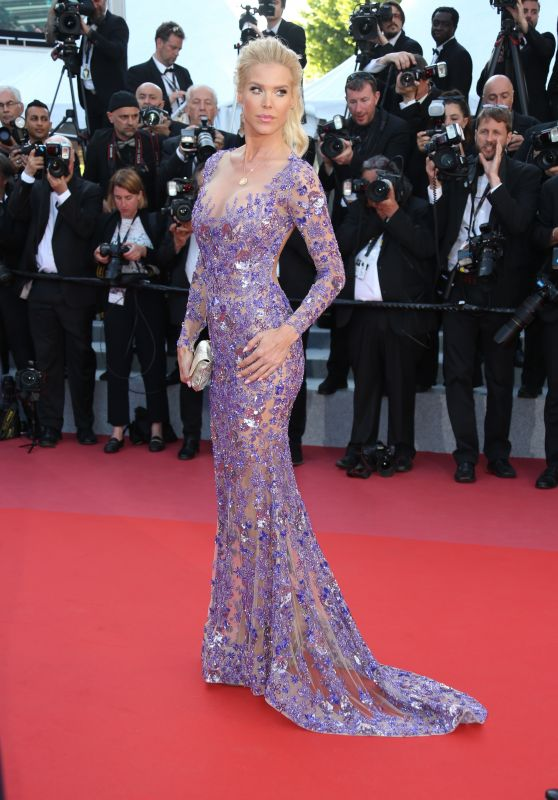 """Victoria Silvstedt – """"Ash Is The Purest White"""" Red Carpet at Cannes Film Festival 05/11/2018"""