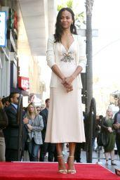 Zoe Saldana - Star on the Hollywood Walk of Fame in LA