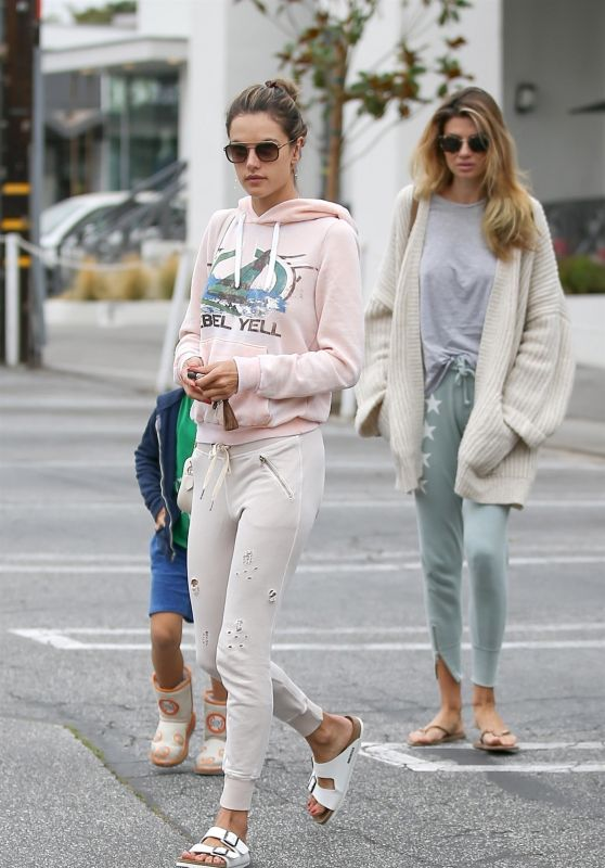 Alessandra Ambrosio and Aline Ambrosio - Out in Brentwood 06/19/2018