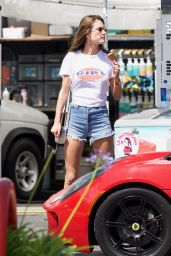 Alessandra Ambrosio Enjoying Her Ice Cream - Shopping in Brentwood