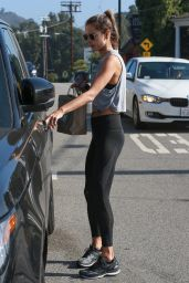 Alessandra Ambrosio in Spandex - Out in Brentwood 06/13/2018