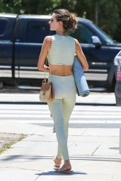 Alessandra Ambrosio in Workout Gear - Leaves a Yoga Class in Los Angeles 06/11/2018