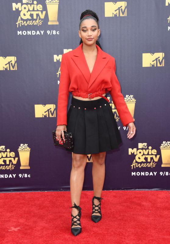 Amandla Stenberg – 2018 MTV Movie And TV Awards in Santa Monica
