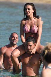 Amy Jackson in Bikini on the Beach in Mykonos 06/14/2018